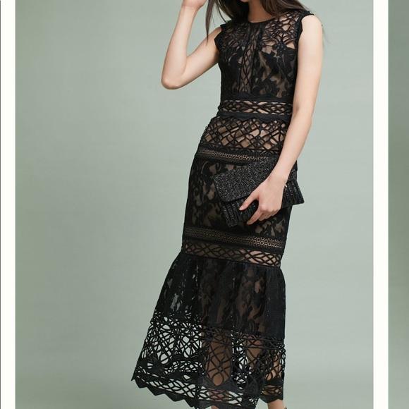 34852730249 ML Monique Lhuillier lace Trumpet Dress